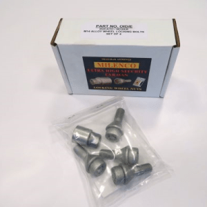 Milenco Caravan/Motorhome Locking Wheel Nuts Motorhome 16″ (Pack of 4)