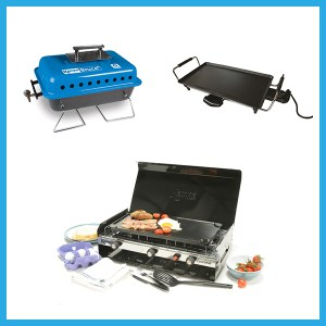 Griddles, Grills and Barbecues