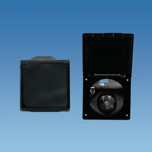PowerPart PO113B – Black Flush Fitting Mains Inlet