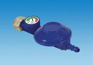 PLS T28GAUGE – Butane Screw-on Regulator 28mbar with Level Gauge