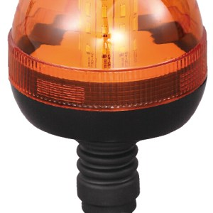 Maypole Beacon – Amber LED 12/24V Flexi Din Pole Mount R10/IP66 – MP4093