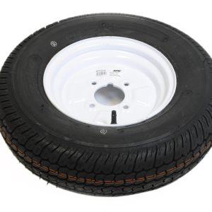 Maypole Wheel & Tyre 145×10″ Bias 6Ply 4 Stud 375kg White – MP21645