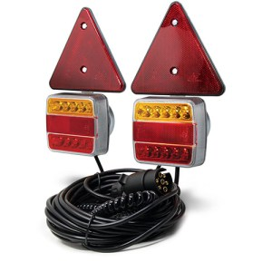 Maypole 12V LED Mag Pod 1.8M Curly 6M Trlr Cable Triangles Dp – MP44952