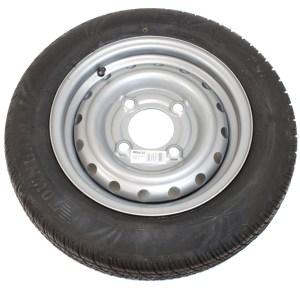 Maypole Wheel & Tyre 135R13 74N 4Stud 5.5″ Pcd 375kg Silver – MP68192
