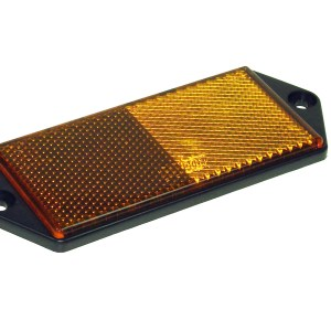 Maypole Reflector – Amber With Fixing Holes On Frame Bk – MP8858B