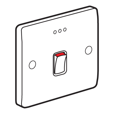 Legrand Synergy 730012 Double Pole Switch with Red LED