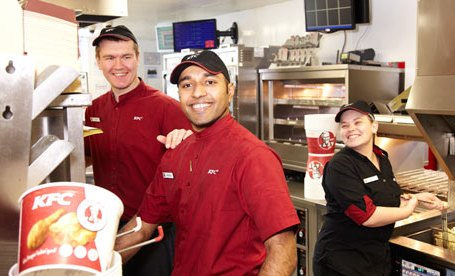 angajaţi KFC