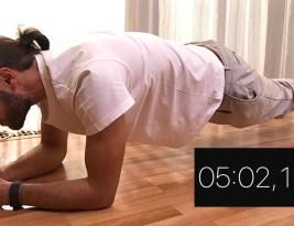 5 minute de planșă/plank