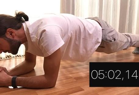 5 minute, planșă, plank, record, exercițiu