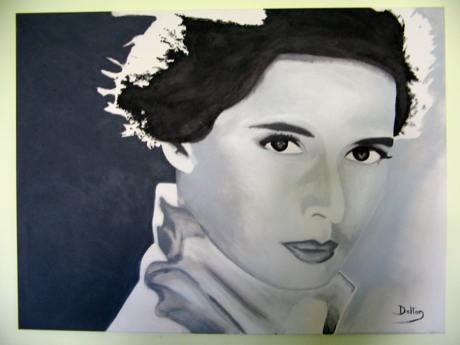 Isabella Rossellini painting by John Dalton