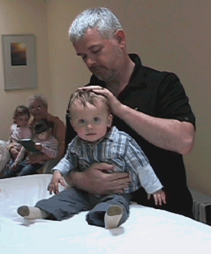 John Dalton Practicing craniosacral therapy in Dublin in 2007