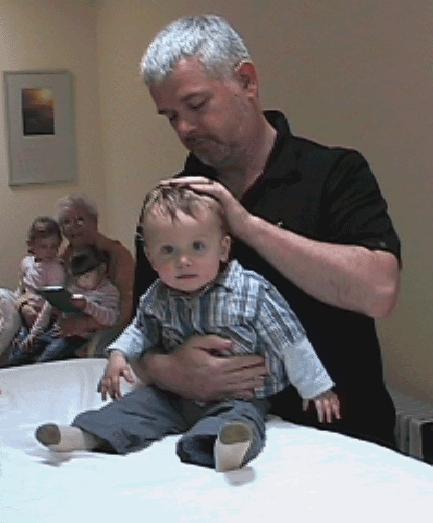 John Dalton Practicing craniosacral therapy in Dublin in 2007