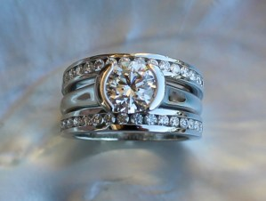 Wedding set in platinum
