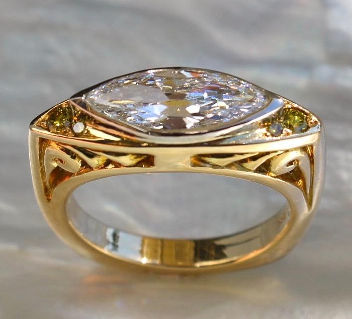 R55-5-1 1.25Ct diamond 18K