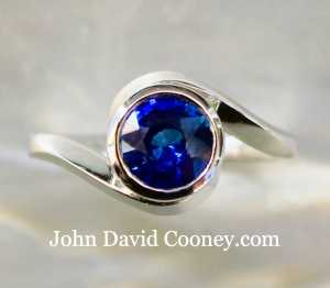 Platinum, Sapphire ring