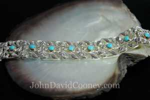 sterling 14K turquois