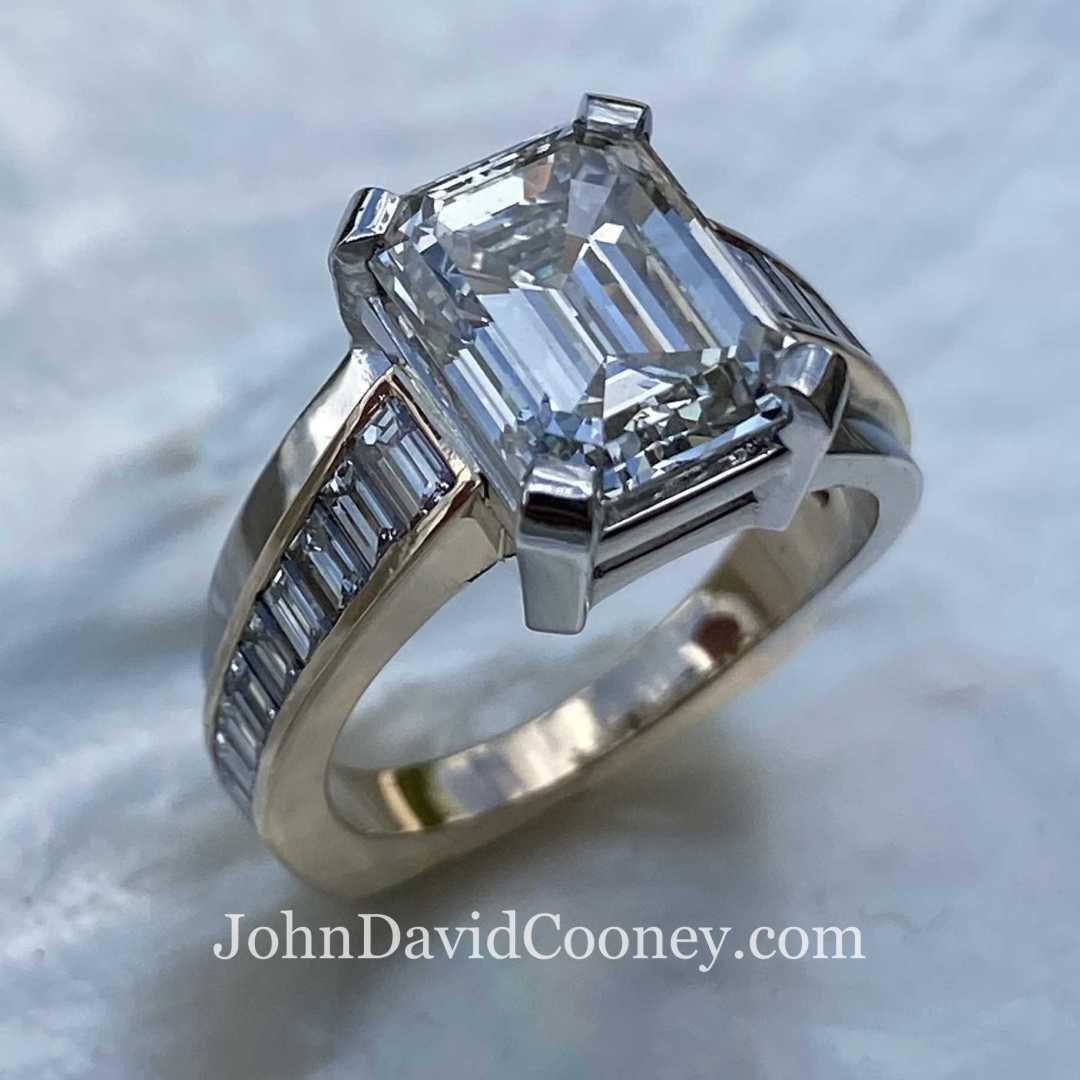 GIA 3.56CT Emerald cut Diamond