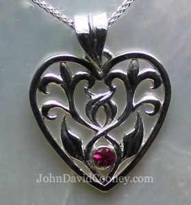 Leaf heart rubie