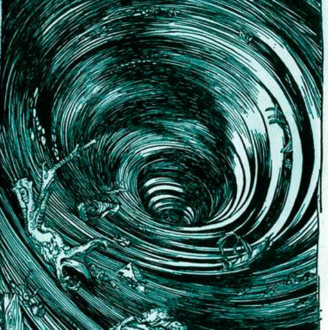 Image result for  swirling around the drain
