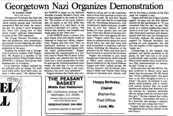 Georgetown Hoya Feb 15 1979 Nazi