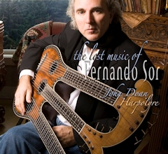 John Doan plays the harpolyre harp guitar on the Lost Music of Fernando Sor album