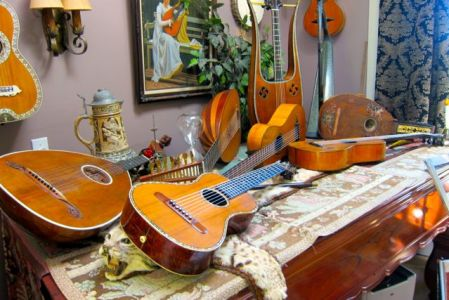 9. John Doan Harp Guitar Retreat Music Room