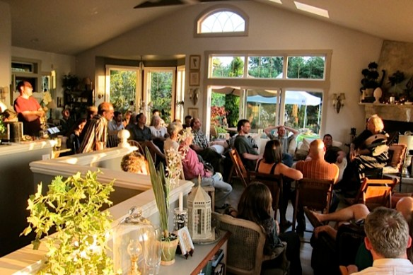 John Doan living room concert in his home.