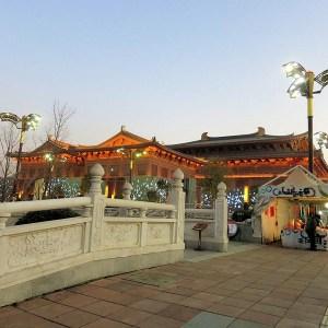 John Doan in Xian - Concert Hall exterior