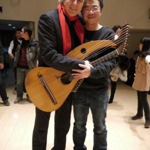 John Doan with sponsor Yilin Wang after concert in China