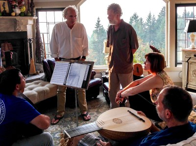 21. Oregon Lute players gather in my living room to share their love of music and fun conversation
