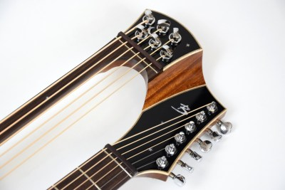 Brunner Harp Guitar headstock