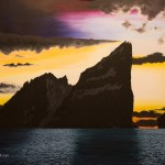 Painting of the Winter Solstice on Stac An Armin, St Kilda