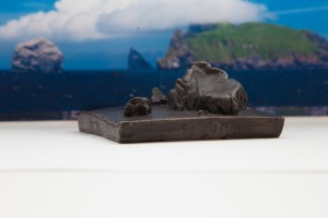 Bronze sculpture of the island of Boreray in St Kilda