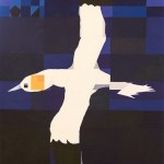 Painting of a Northern Gannet