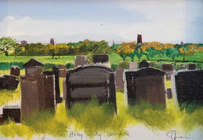 Holy Trinity churchyard, overlooking the Mystery