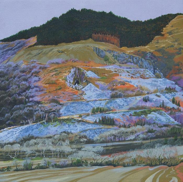 The Hollow Mountai (Mynydd Braich-goch) painting J A Elcock 2017