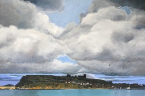 The Last of Summer (2017) painting of Whitby by John Elcock