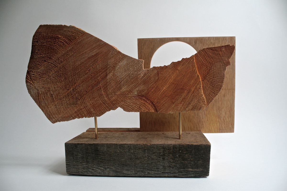 Photograph of a found sculpture representing Cwm Cau Cadair Idris in Wales.