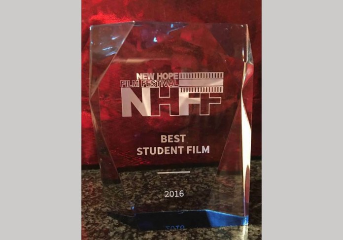 Best Student film award for the movie Escapement from the New Hope Film Festival