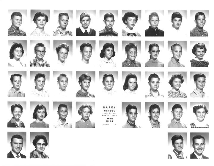 Hardy Elementary • 6th Grade • 1958-1959