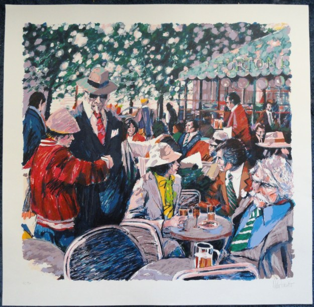 Cafe Tortoni by Aldo Luongo Limited edition serigraph