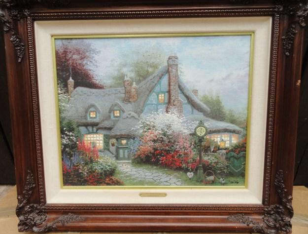 Sweetheart Cottage by Thomas Kinkade framed