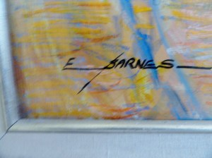 Earline W Barnes signature on AUTUMN