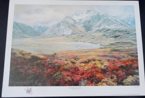 September in Alaska by Charlen Jeffery. Signed and numbered lithograph with pencil drawn remarque. Make offer.