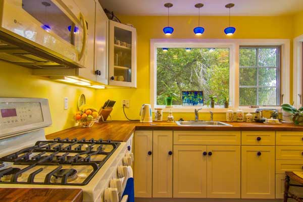 Canary Yellow color kitchen