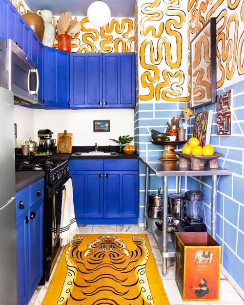Chalk Blue color kitchen