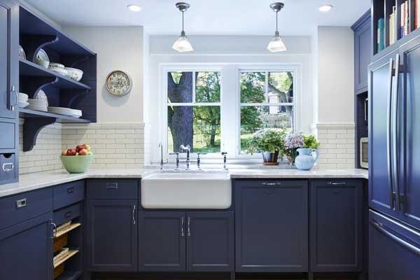 Deep Navy color kitchen