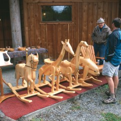Diy Rocking Chair Kit Wheelchair Used Carved Wood Horses