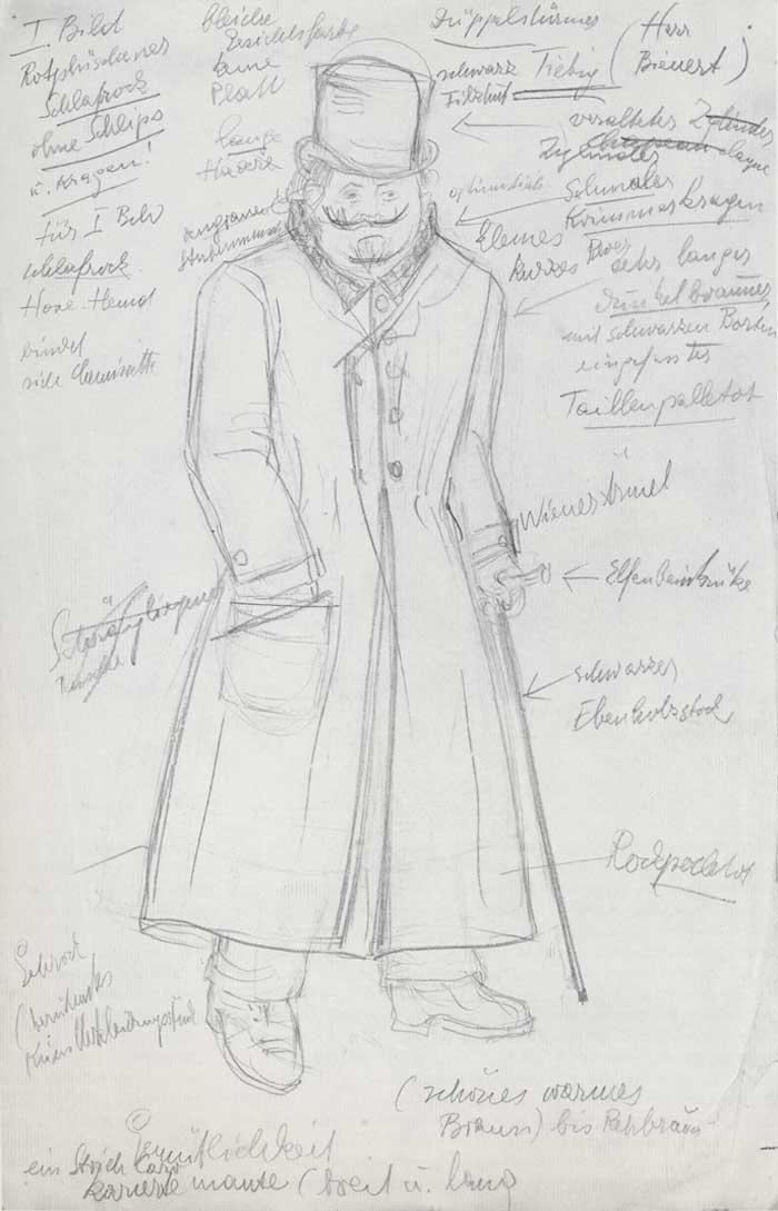 German Theatre Costumes. Heartfield Costume Design For