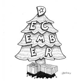 This along with 12 other drawings for each month could be under the tree this year